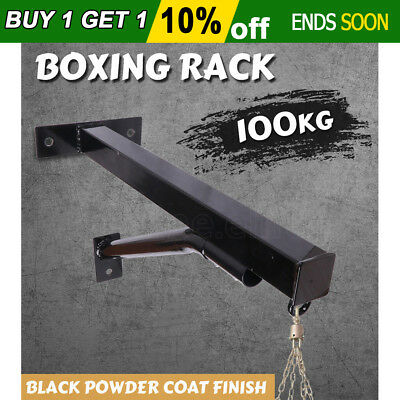 Boxing Bag Rack Heavy Duty Training Wall Mounted Punching Stand Sparring Speed