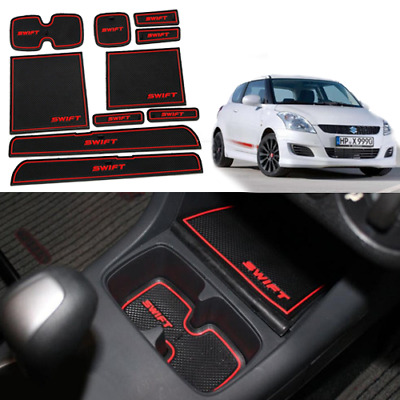 SUZUKI SWIFT 05-14 Set 10x Interieur Gummimatten Antirutsch Matten ...