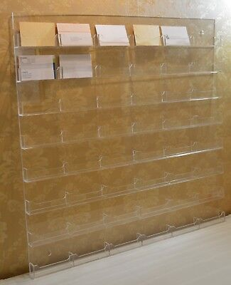Business Cards Stand Holder Storage Wall 48 Compartments Large Acrylic