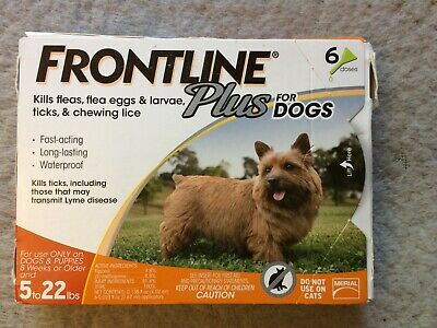 Frontline Plus for Small Dogs Flea and Tick 5-22 lbs. 6 Doses - USA/EPA