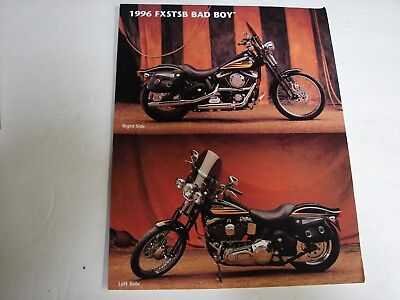 1996 Harley Davidson Fxstsb Bad Boy Accessory Brochure