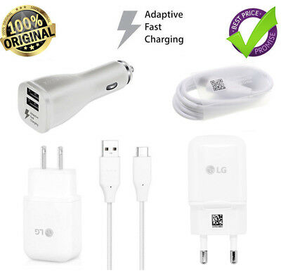 Original Fast Charging Wall Charger&USB Type C Data Cable Cord For LG G5 G6 V20