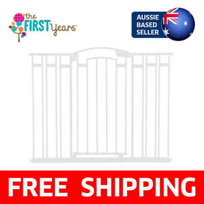 The First Years Extra Tall & Wide Baby Safety Gate White |Stairs, Barrier, Child