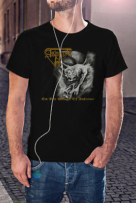 ASPHYX Men Black T-shirt Death Metal Tee Shirt On the Wings of Inferno