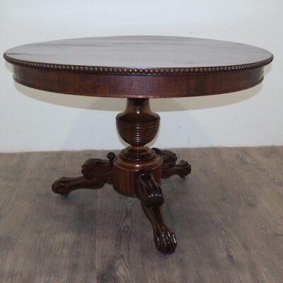 19th Century Antique French Louis Philippe Period Pedestal Table Mahogany