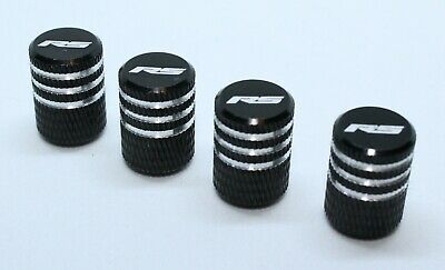 4x Valve Cap for FORD Aluminium Dust Caps for RS/Std Line Brand New Black Check