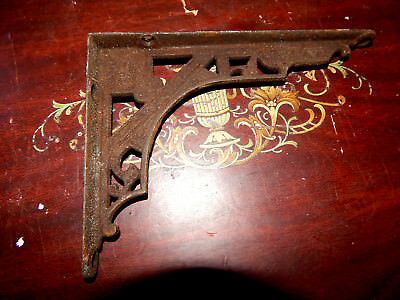 "1 vintage Charming eastlake Cast Iron Shelf Bracket (only 1)  6 7/8"" x 4 7/8 """