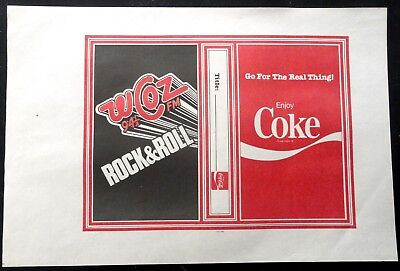 Vintage 1970's Coca Cola Book Cover Lot - Coke advertising w/ Boston's WCOZ 94.5