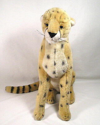 "Discovery Kids Stuffed Animal 17.5"" Leopard Spotted Cheetah Brown Black Spots"