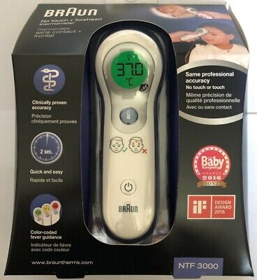 Braun NTF 3000 No Touch Plus + Forehead Digital Thermometer