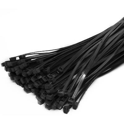 100 or 50 Cable Ties Black & Natural Cable Tie Wraps / Zip Ties 4 mm X 200 mm