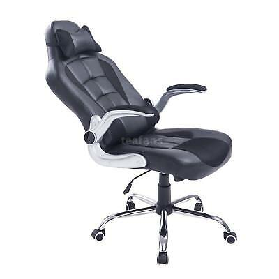Adjustable Racing Office Chair PU Leather Recliner Gaming Computer C0N7