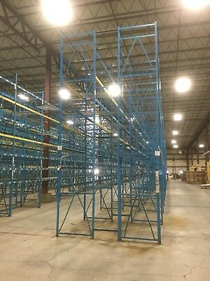 """19' Tall By 42"""" Deep Structural Pallet Rack Uprights/Frames:Used,Great Condition"""