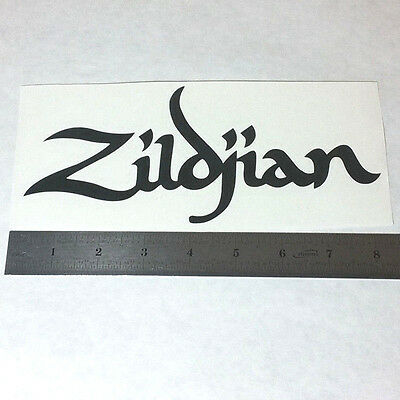 Zildjian cymbals vinyl decal sticker blk wht rock logo bass window drums crash