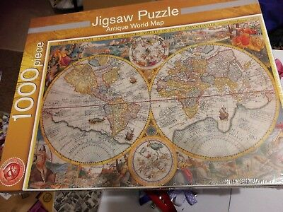 Marks and spencer antique world map jigsaw puzzle 1000 pieces brand marks and spencer antique world map jigsaw puzzle 1000 pieces brand new gumiabroncs Images