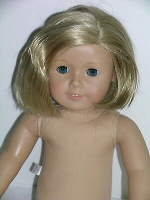 American Girl Doll Short Blonde Hair Blue Eyes Freckles 2008
