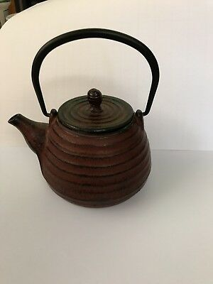Antique Japanese Cast Iron Tetsubin Teapot