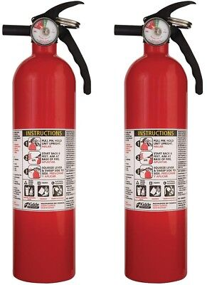 2-Pack Recreational Fire Extinguisher 1-A:10-B:C Kidde Extinguish Common Fires