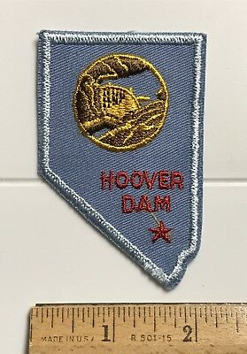 The Hoover Dam State of Nevada NV Outline Border Souvenir Embroidered Patch