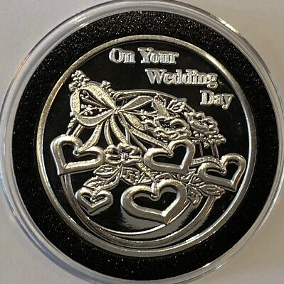 2018 On Your Wedding Day Gift Present 1 Troy Oz .999 Fine Silver Round New Coin