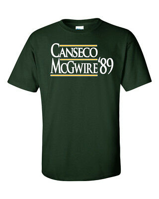 "Jose Canseco Mark McGwire Oakland Athletics ""89""  T-Shirt"