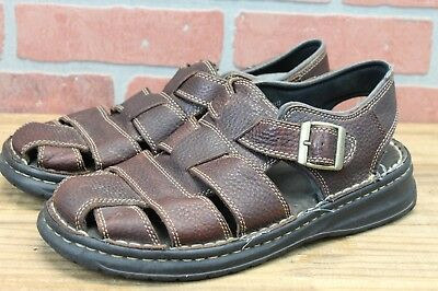 41000d165ca0 Earth Shoe Brand Simon 3 Fisherman Sandals Mens Size 10 Brown Leather-6090