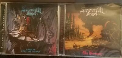 LOT OF 2 SEVENTH ANGEL CDs - THE TORMENT + LAMENT FOR WEARY *NEW 2018 Remasters
