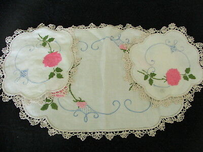 Vintage Hand Embroidered Doilies ~ Duchess Doiley Sets X 4