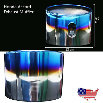 2PC Chrome Stainless Steel Exhaust Muffler Tail Pipe Tip Fit 08-12 Honda Accord
