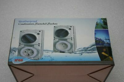 5 Pin 40A 3 Phase Powersafe Weatherproof Combination Switced Socket IP66