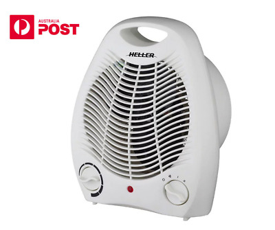 NEW Heller Portable Fan Heater Adjustable Thermostat Floor Table Desk AU/NZ Plug