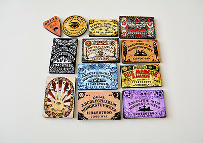 Ouija Board and Planchettes Crafting Embellishments Collage Pieces Art Parts