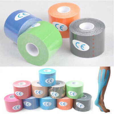 Adhesive Muscle Knee Shoulder Calves Support Sports Kinesiology Tape Strips