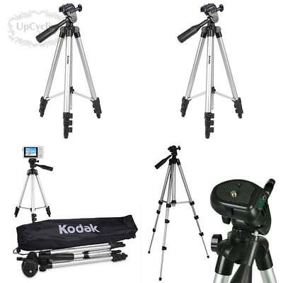 "50"" Superior Control Camera Tripod 3 Way Pan Head With Bubble Level Pro Leveler"