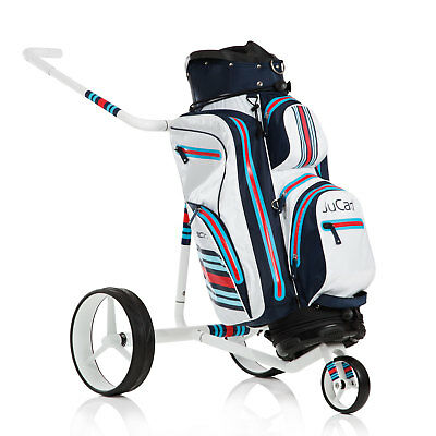 JuCad Golf Racing white Handwagen / manueller Trolley aus Carbon incl. Bag