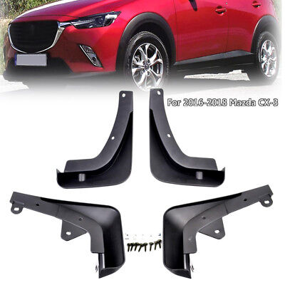 Set of 4 Mudflaps Mud Flaps Fit For Mazda CX-3 2017 2018 Splash Guards Molded