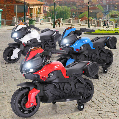 6V Kids Ride On Motorcycle Battery Powered Bicycle Electric Toy W/Training Wheel