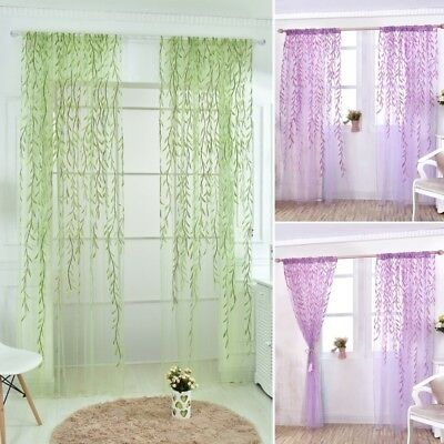 Wicker Curtain Yarn Tulle Curtain Window Decoration Glass Embroidery For Bedroom