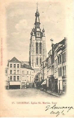 carte postale - Kortrijk - Courtrai - CPA - Eglise Saint Martin - Tour