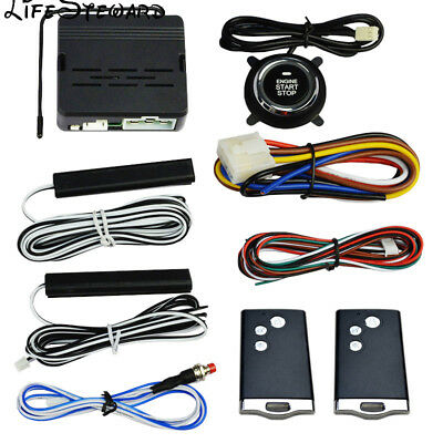 Car Alarm Start/Stop Security System Passive Keyless Entry Push Button Remote