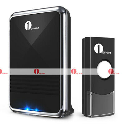 Wireless Doorbell AC Receiver Battery Remote Home Office Digital Door Bell Kit