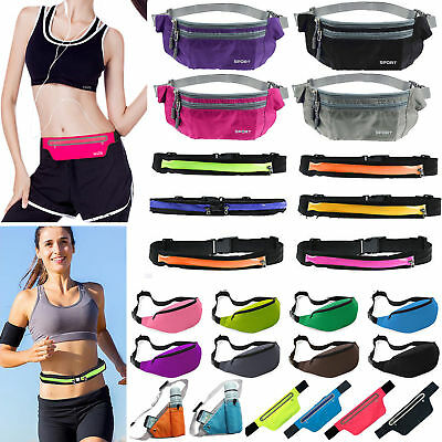 Running Sports Gym Bum Bag Fanny Pack Travel Waist Belt Zip Pouch Money Wallets