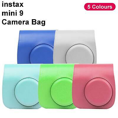 Fuji Fujifilm Instax Mini 8 9 Instant PU Camera Leather Bag Carry Case Cover