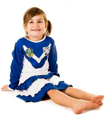 1f3acb50d CANTERBURY BULLDOGS NRL Girls Baby Footysuit Bodysuit Select Size ...