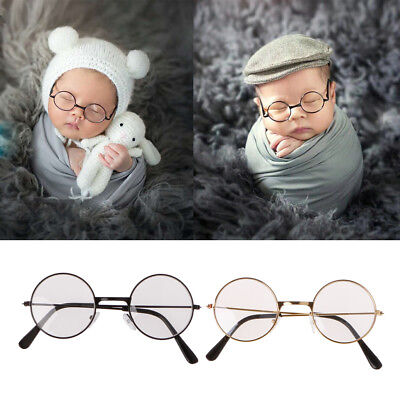 Girl Boy Newborn Baby Flat Glasses Photography Props Gentleman Studio Shoot Kids