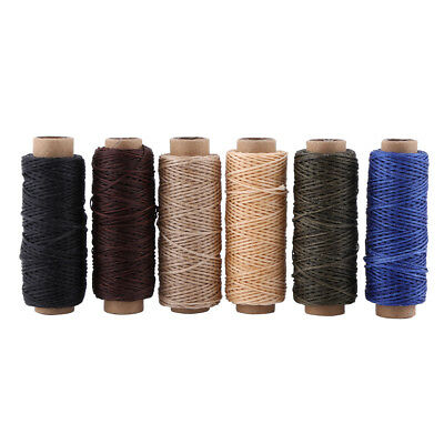 Qualified Waxed Sewing Thread for Leather Shoe Hand Stitching Crafts 150D 50m