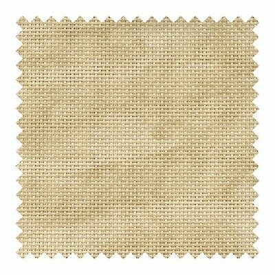 "Zweigart 14 count VINTAGE BEIGE AIDA Cross Stitch Fabric 28x36.5cm (11 x 14.25"")"
