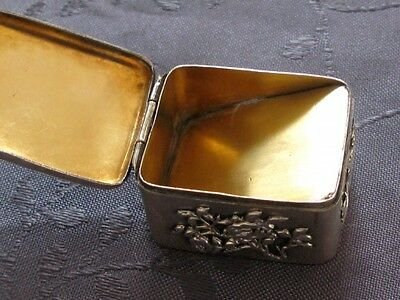 Silver Box For Stamp Chinese Silver Japan