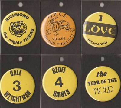 RICHMOND  FC -AFL- COLLECTORS TEAM SUPPORTERS / CHEER SQUAD  METAL BUTTONS No 3
