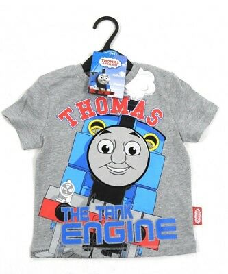Thomas the Tank Engine Boys Grey Cotton T-Shirt Top Age 12/18 & 18/24 Months NEW